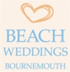 Bournemouth Beach Weddings use folding tables and tablecloths supplied by AML