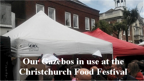 AML trestle tables,folding chairs and gazebo at food festival