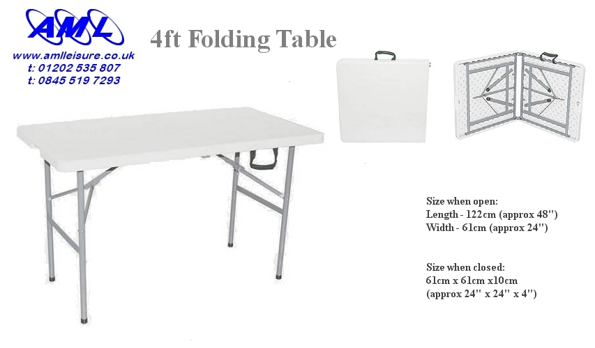 Small 4ft folding table - small table