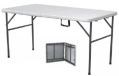 5ft folding table - table folds in half with carry handle